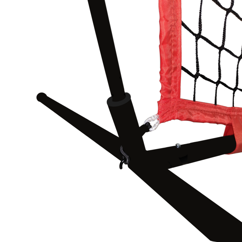 bottom of large net for catching arrows during archery practice arrowsoft sports