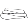 unstrung dacron bowstring with finger savers, arrowsoft sports