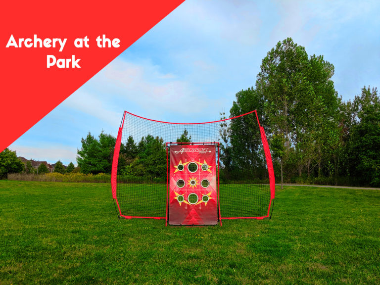 12 foot large back netting for catching archery arrows at the park