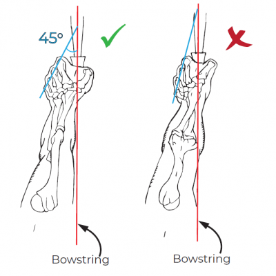 how to shoot a recurve bow - proper elbow rotation