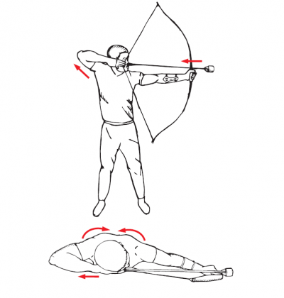 how to shoot a recurve bow - standing with proper shooting form